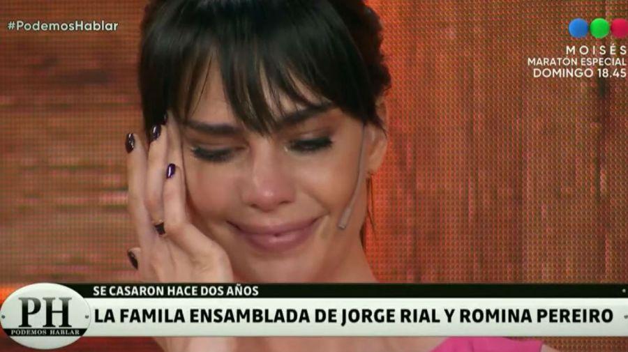 Romina Pereiro lloró en PH