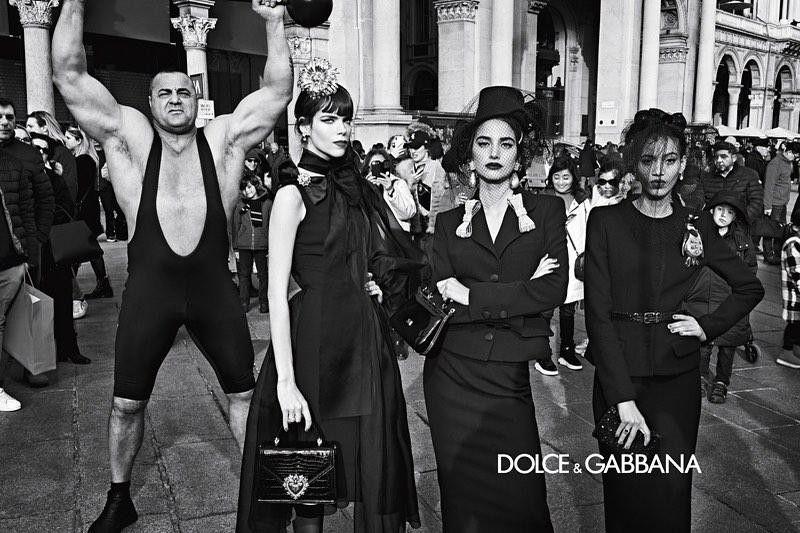 Milagros Piñeiro en la campaña de Dolce & Gabbana