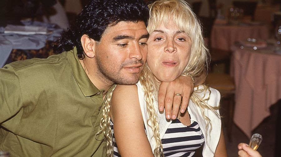 Diego Maradona con Claudia Villafañe.