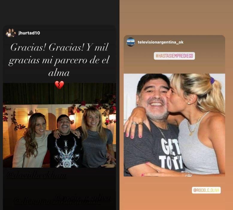 El conmovedor mensaje de Rocío Oliva para Diego Maradona: