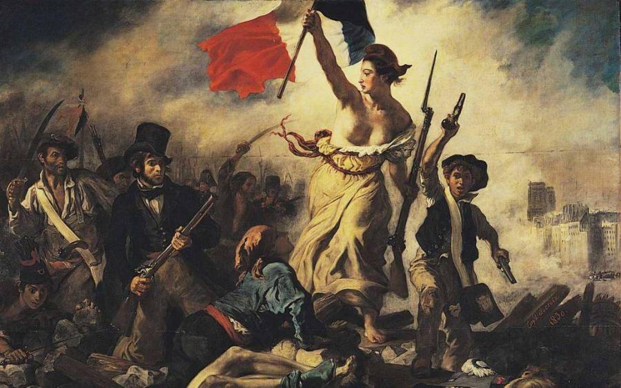 La libertad guiando al pueblo, Eugène Delacroix
