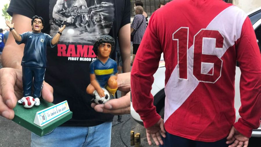 Maradona: duelo en la cancha de Argentinos