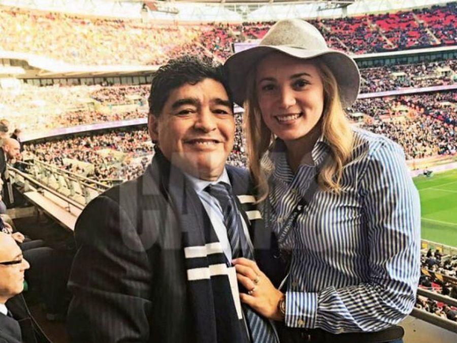 Rocío Oliva se desmayó al enterarse de la muerte de Diego Maradona