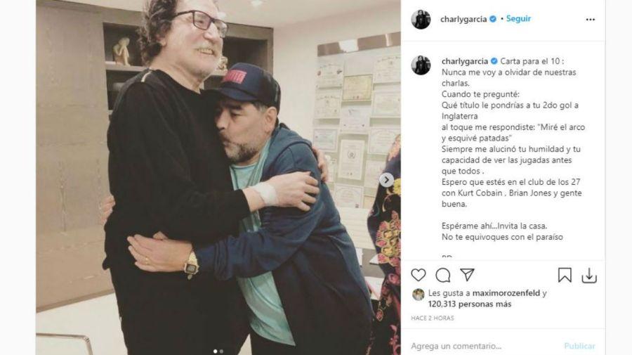 Charly Garcia y Diego Maradona