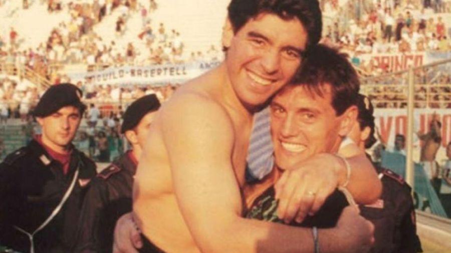 Diego Maradona y Sergio Goycochea