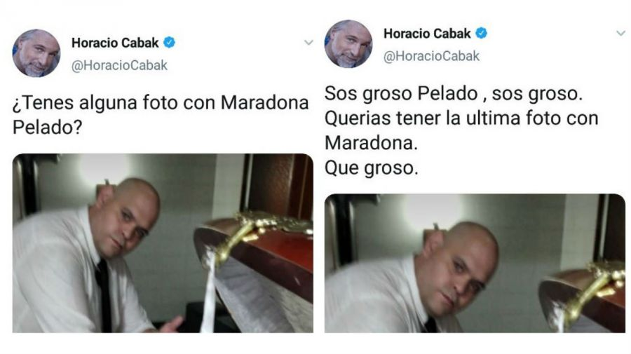 Diego Molina foto Diego Maradona muerto