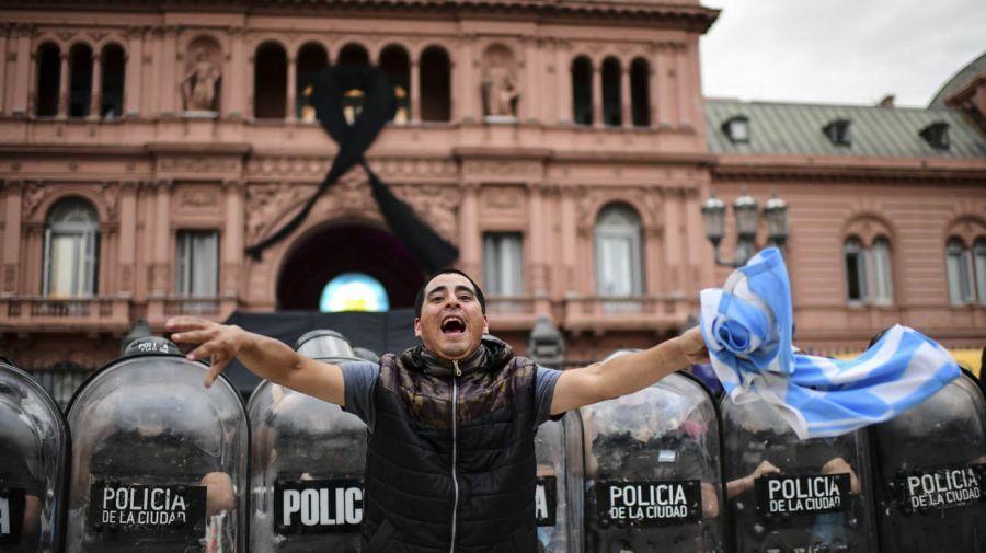 El último adiós a Diego Maradona en la Casa Rosada