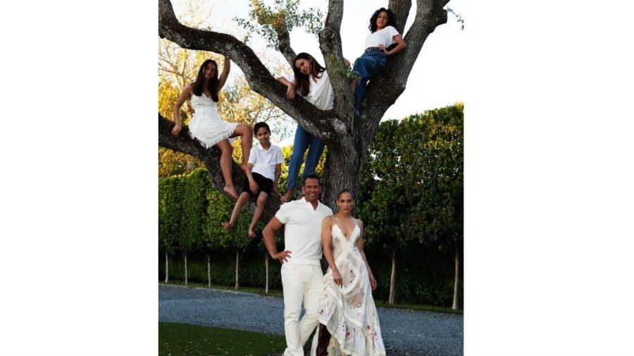 Jennifer Lopez, Alex Rodriguez y sus hijas