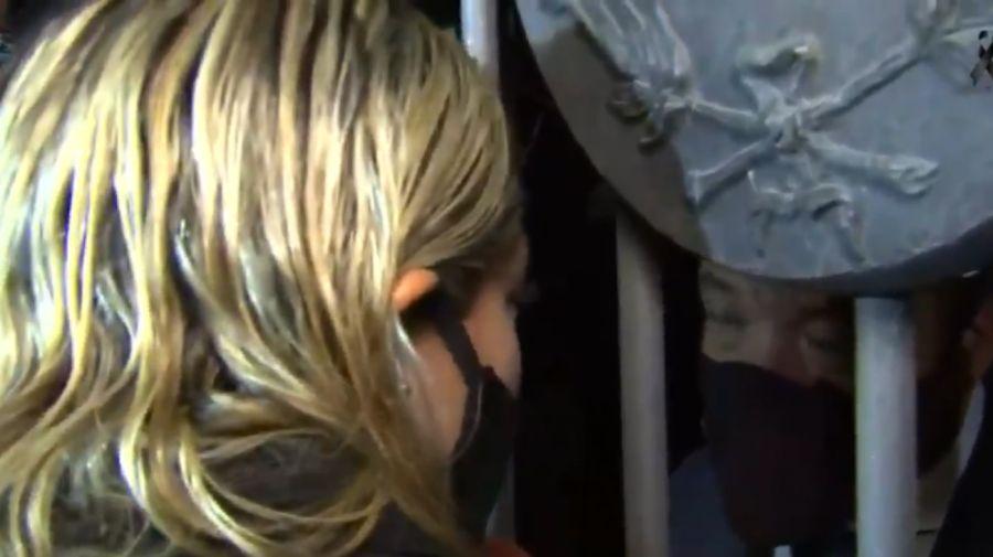 Rocío Oliva no pudo entrar a Casa Rosada