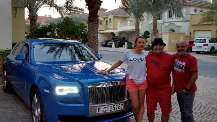 El Rolls Royce de Maradona en Dubai