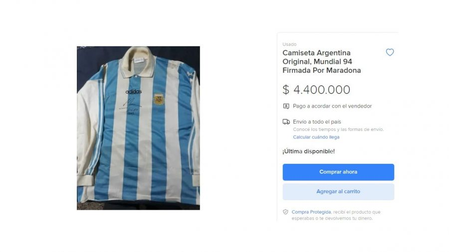 Camisetas de Maradona