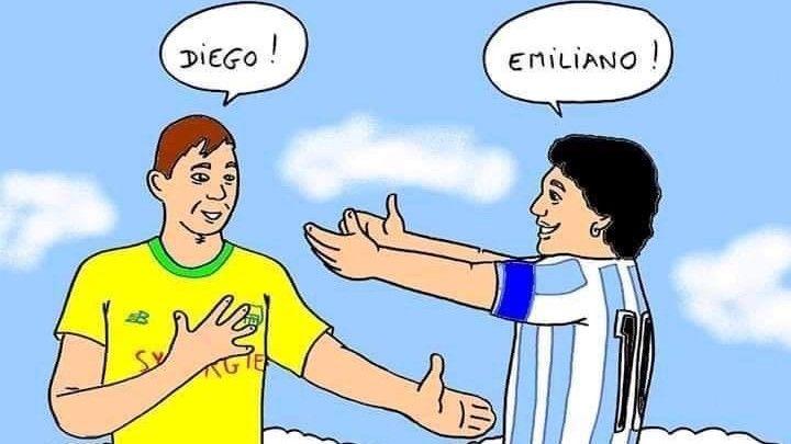 Sala y Maradona