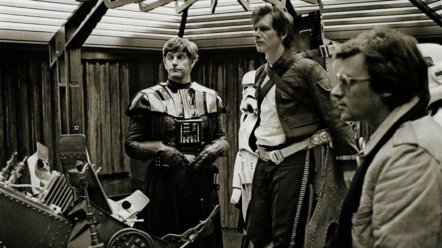 Dave Prowse y Harrison Ford