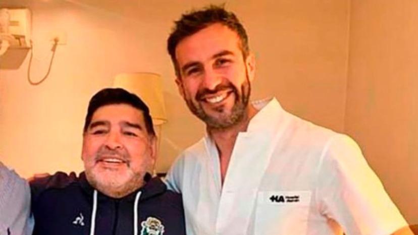 Diego Maradona y el Dr. Luque