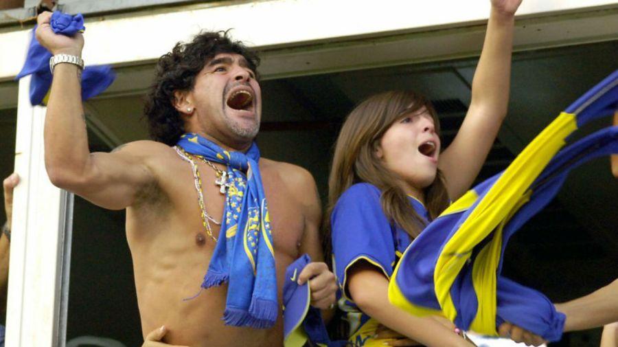 Diego y Dalma Maradona en El Templo