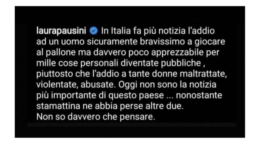 Mensaje de Laura Pausini sobre Diego Maradona