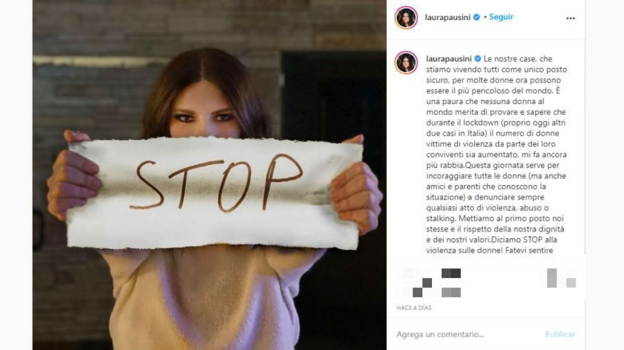 Mensaje Laura Pausini por la mujer