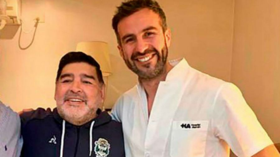 Diego Maradona y Leopoldo Luque