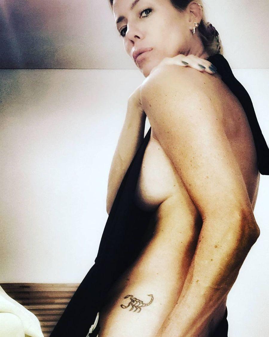 El desnudo al borde de la censura de Nicole Neumann para mostrar su tatuaje íntimo