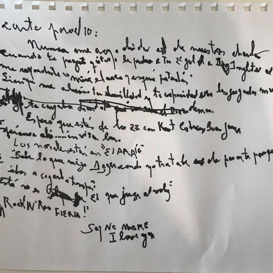La carta que Charly le escribió a Maradona