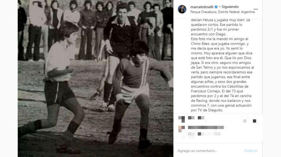 Marcelo Tinelli habló de su falsa foto con Diego Maradona