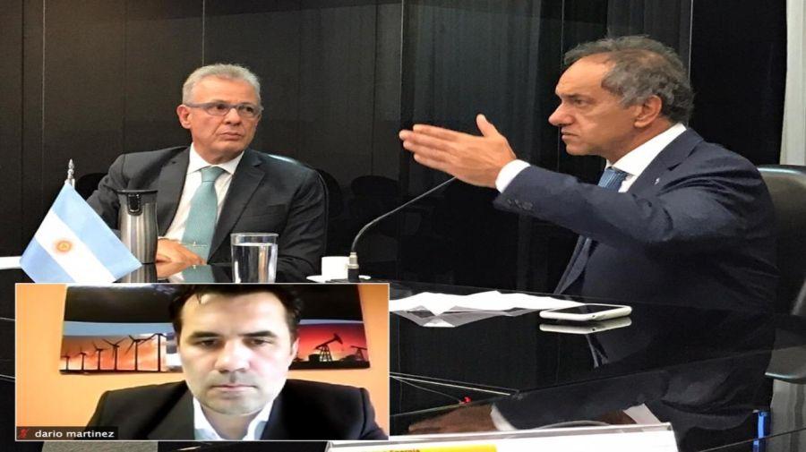 Scioli Daniel Martínez Dario energía 20201130