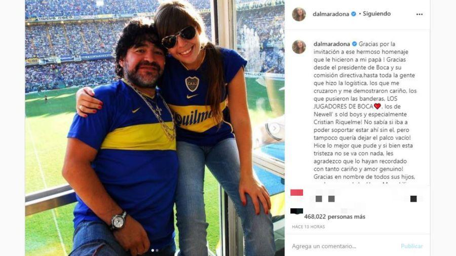 Mensaje Dalma Maradona