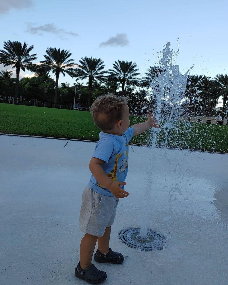 Las vacaciones en familia de Marcela Kloosterboer en Miami