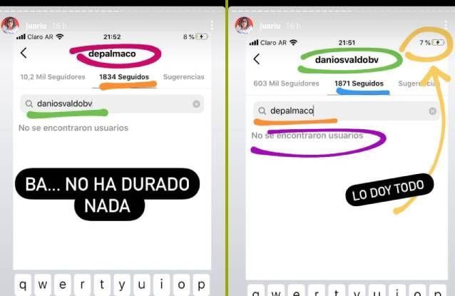 Pruebas de crisis entre Daniel Osvaldo y su nueva novia