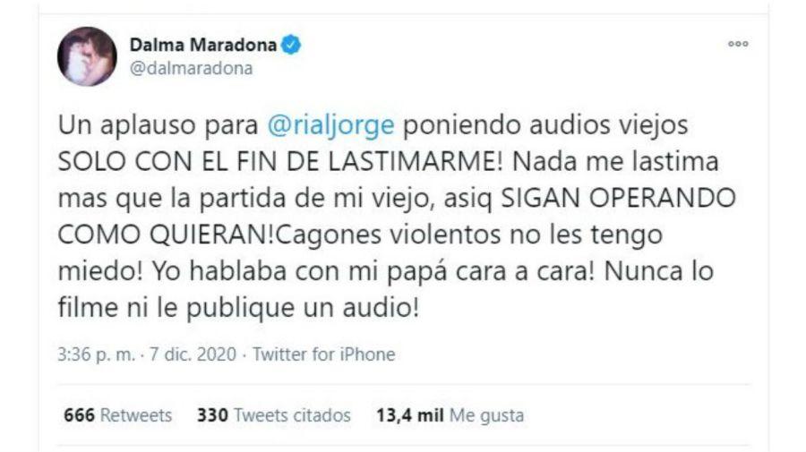 Dalma Maradona contra Jorge Rial