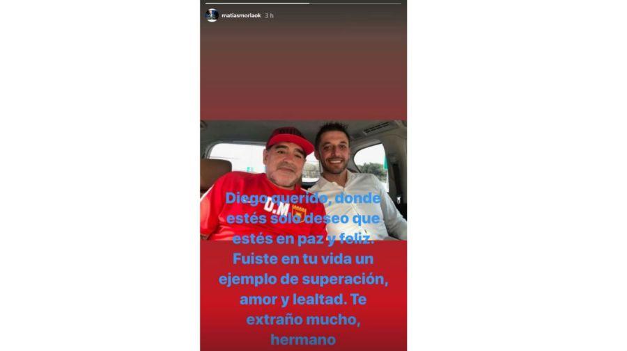 Matias Morla y Diego Maradona