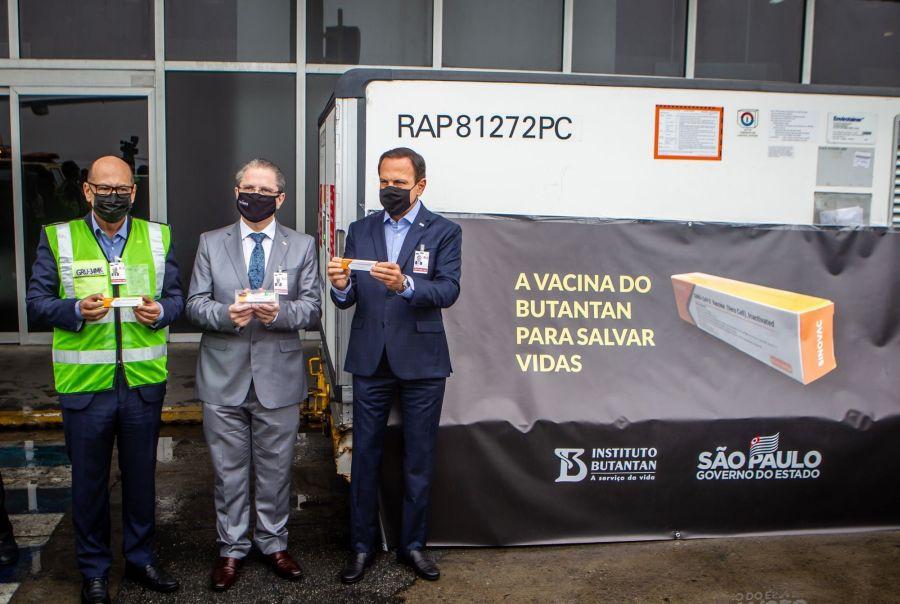 Shipment Of Sinovac Biotech's Coronavirus Vaccines Arrive In Brazil