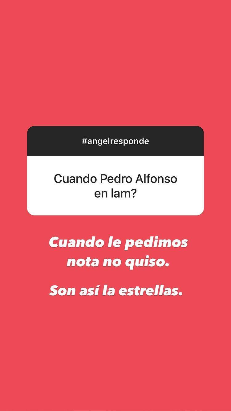 Ángel de Brito le lanzó un palito a Pedro Alfonso y Paula Chaves