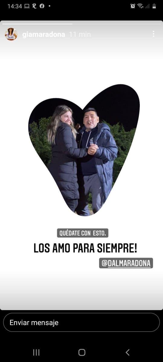 Apareció Gianinna Maradona y compartió un contundente mensaje