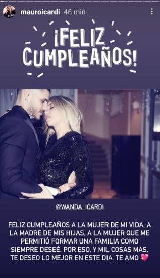 El mensaje de Mauro Icardi a Wanda Nara