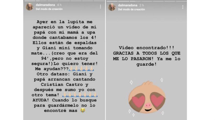El pedido de Dalma Maradona