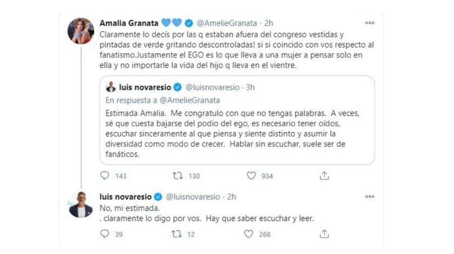 Cruce Amalia Granata - Luis Novaresio
