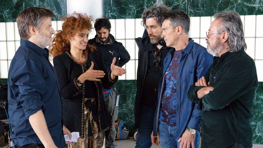 Gastón Duprat, Penélope Cruz, Antonio Banderas, Oscar Martínez