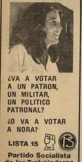 La campaña de Nora Ciapponi en 1973