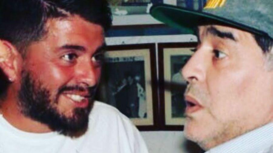 Diego Jr y Diego Maradona