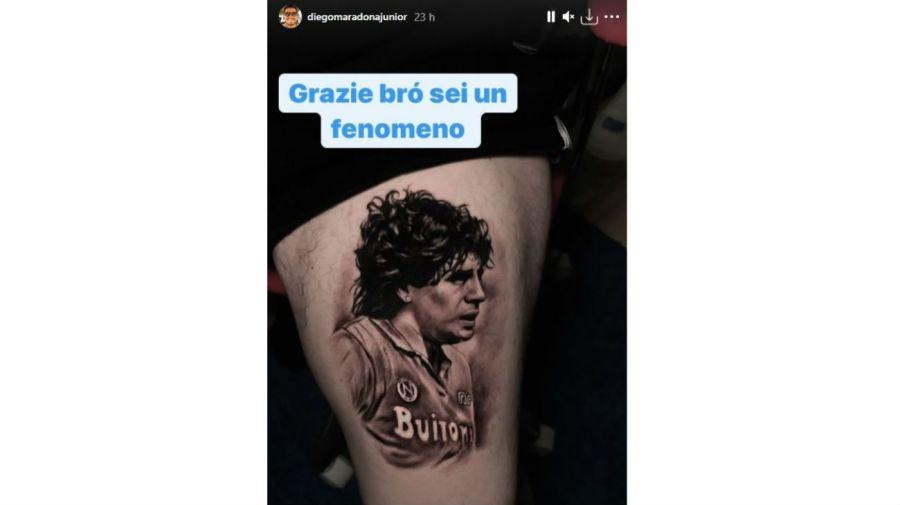 Tatuaje Diego Maradona Jr.