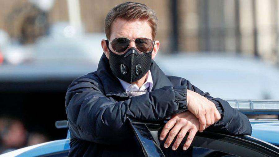 Tom Cruise en la grabación de Misión Imposible 7