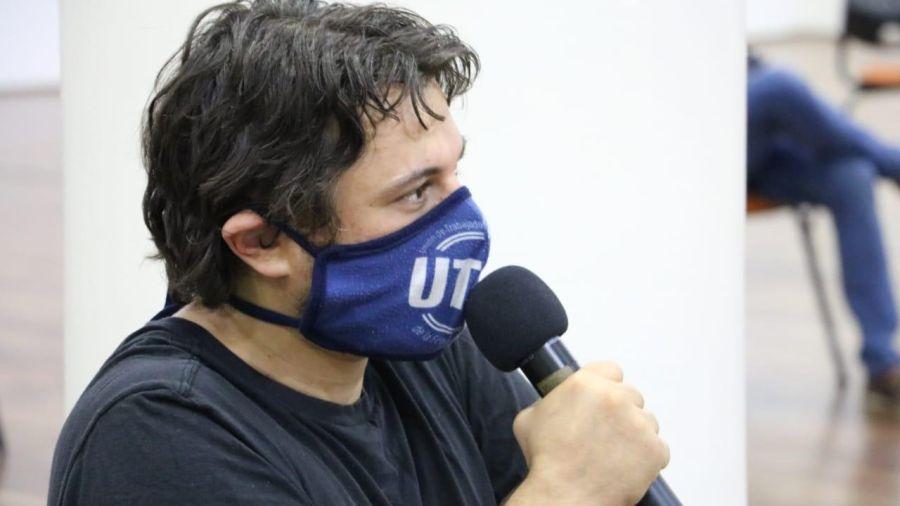 Juan Grabois, en la reunión con Barbieri