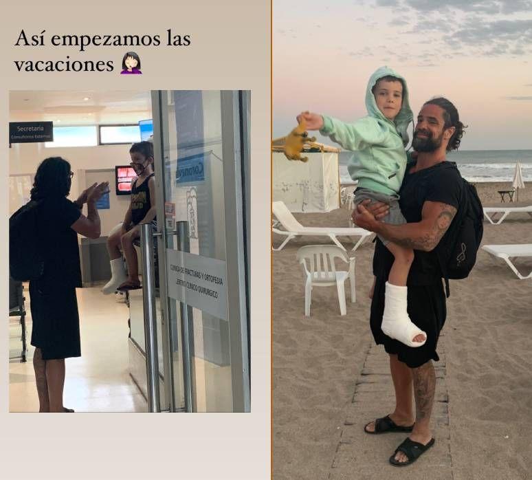 Luciano Castro y Sabrina Rojas comenzaron sus vacaciones con un incidente que los llevó al hospital