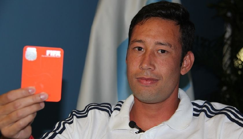 El árbitro correntino Javier Sosa.