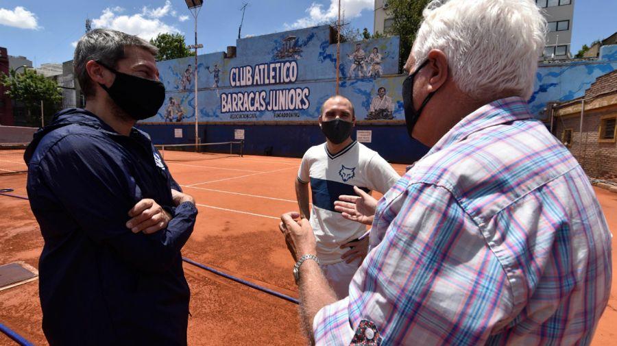 Martín Guzmán junto a Matías Lammens.