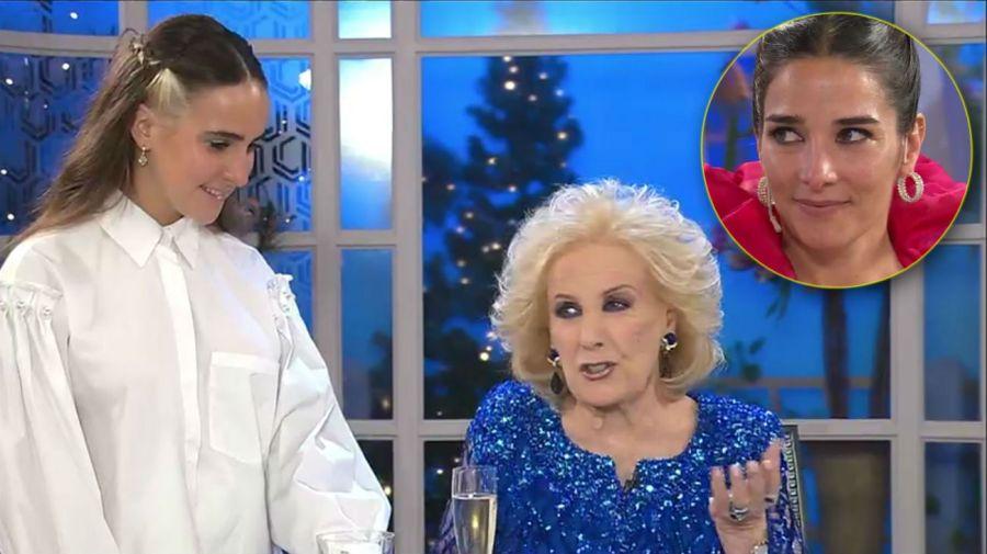 Ámbar de Benedictis, Mirtha Legrand y Juana Viale