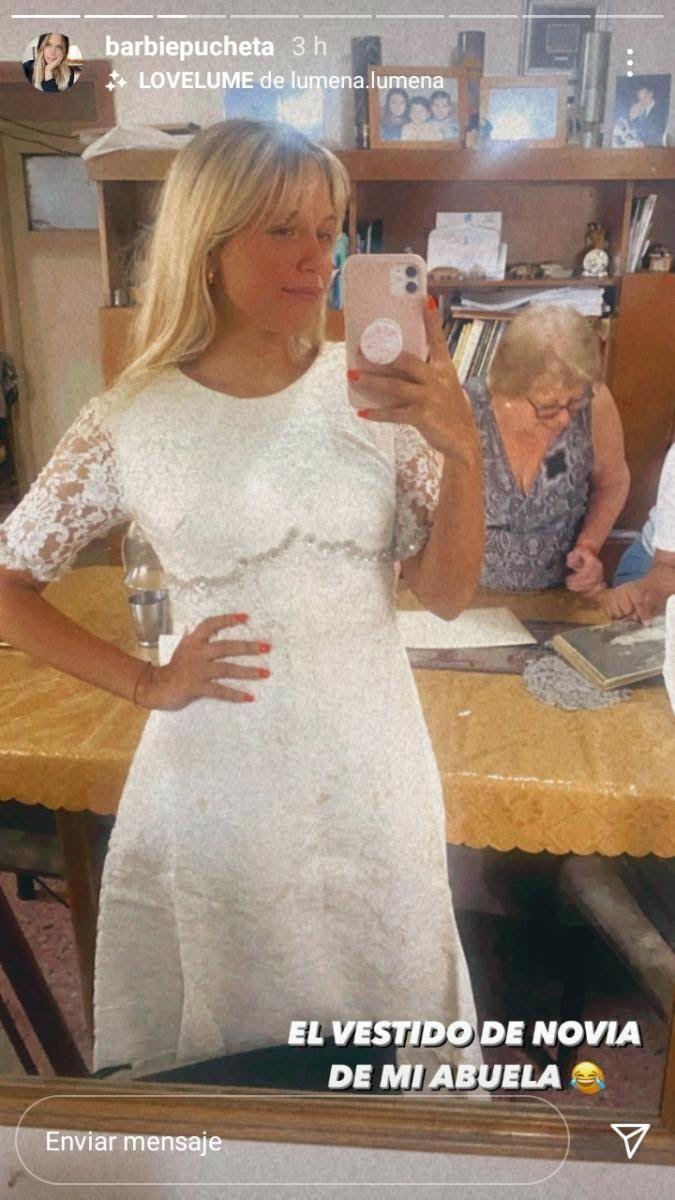 Barbie Vélez se probó el vestido de novia