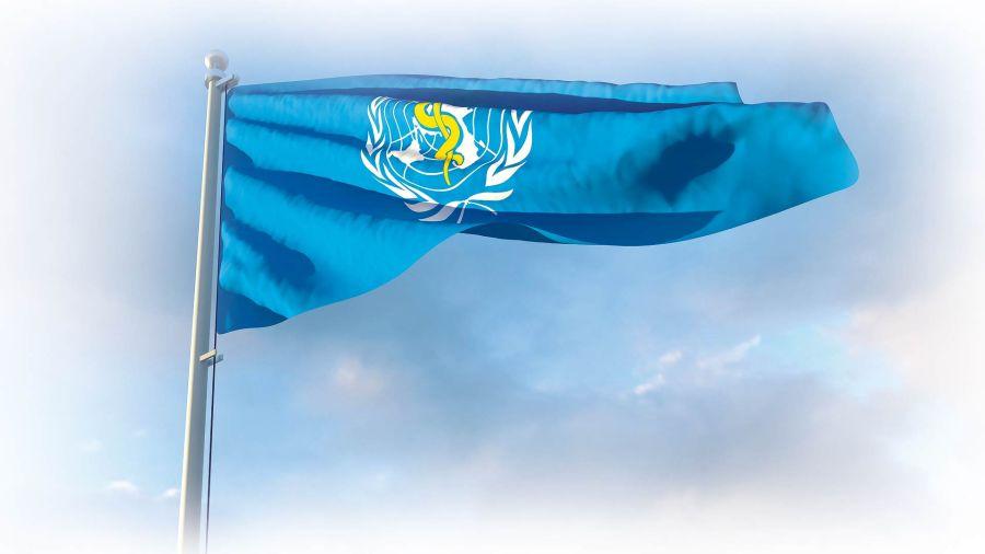 La bandera de la OMS