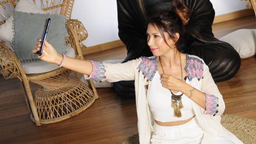 Lola Castillo en acción.